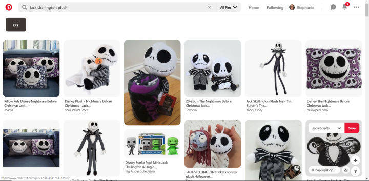 Jack Skellington Plush